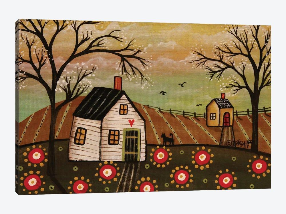 Red Flowers I by Karla Gerard 1-piece Canvas Artwork