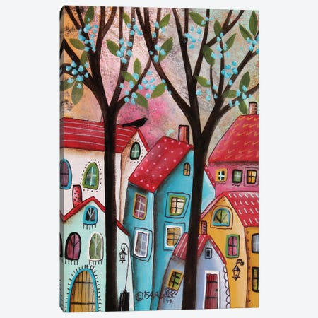 Red Roofs Canvas Print #KAG253} by Karla Gerard Canvas Art