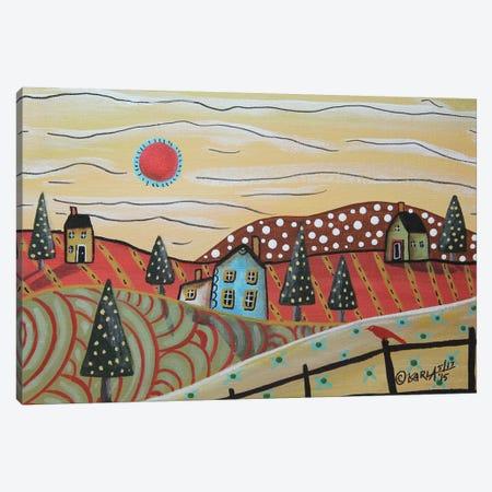 Red Sun Canvas Print #KAG257} by Karla Gerard Canvas Print
