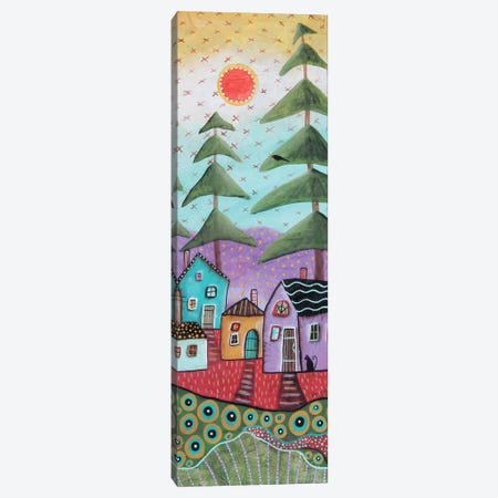 Rustic Cabins 1 Canvas Print #KAG269} by Karla Gerard Art Print