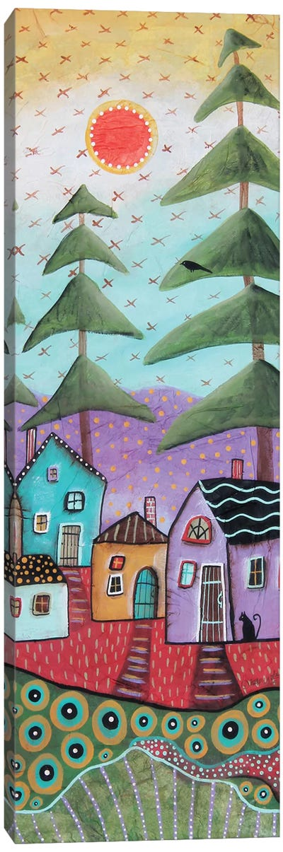 Rustic Cabins 1 Canvas Art Print