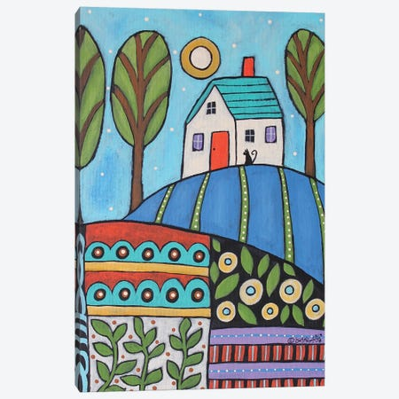 Saturday Blue 3-Piece Canvas #KAG274} by Karla Gerard Art Print