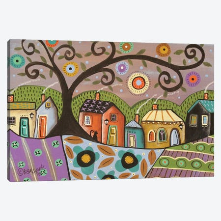 Saturday Purple Canvas Print #KAG276} by Karla Gerard Canvas Print