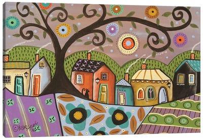 Saturday Purple Canvas Art Print