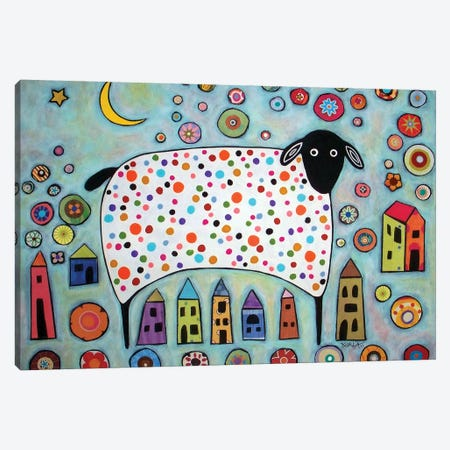 Sheep Collage Canvas Print #KAG282} by Karla Gerard Art Print