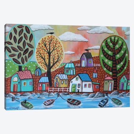 Shoreline Canvas Print #KAG283} by Karla Gerard Art Print