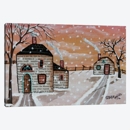 Snow Flurries I Canvas Print #KAG298} by Karla Gerard Canvas Wall Art