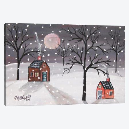 Snowy Night Canvas Print #KAG301} by Karla Gerard Canvas Artwork