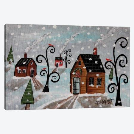 Snowy Sky Canvas Print #KAG302} by Karla Gerard Canvas Art
