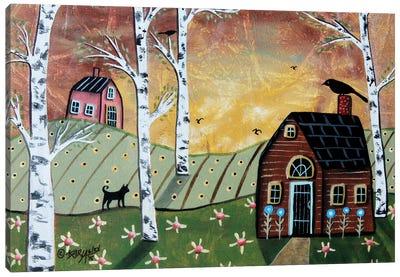 Birch Sunset II Canvas Art Print