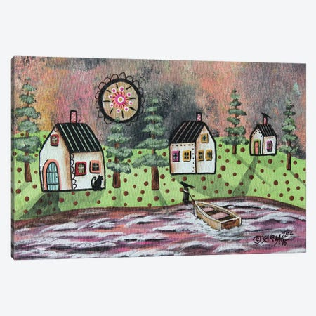 Summer Cabins Canvas Print #KAG320} by Karla Gerard Canvas Artwork