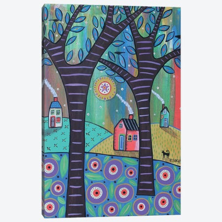 Summer Cottages Canvas Print #KAG321} by Karla Gerard Canvas Artwork