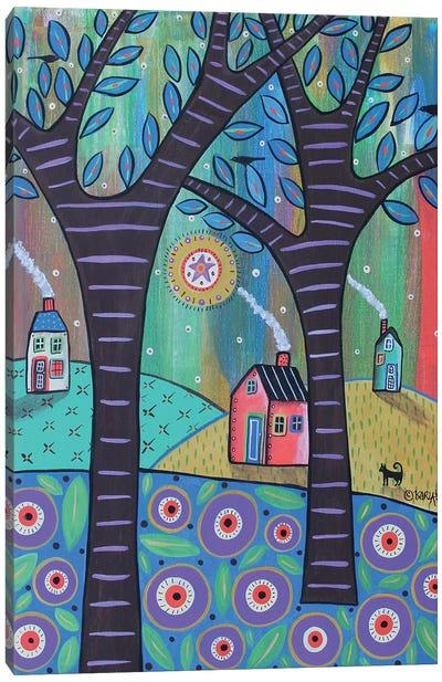 Summer Cottages Canvas Art Print