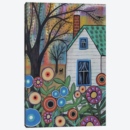 Sweet Cottage Canvas Print #KAG328} by Karla Gerard Canvas Art