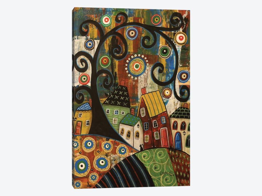Swirl Tree Landscape by Karla Gerard 1-piece Canvas Print