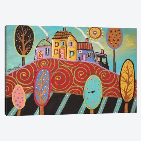 Teal Landscape II Canvas Print #KAG339} by Karla Gerard Canvas Print