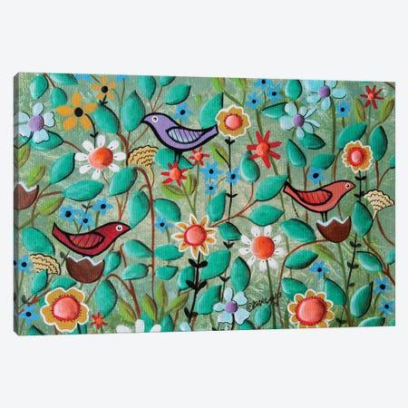 Birds and Blooms Canvas Print #KAG33} by Karla Gerard Art Print