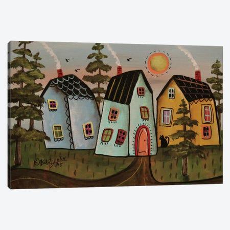 Three Houses I Canvas Print #KAG343} by Karla Gerard Canvas Art