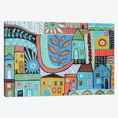 Townhouses Canvas Print #KAG348} by Karla Gerard Canvas Wall Art