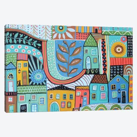 Townhouses Canvas Print #KAG348} by Karla Gerard Canvas Wall Art