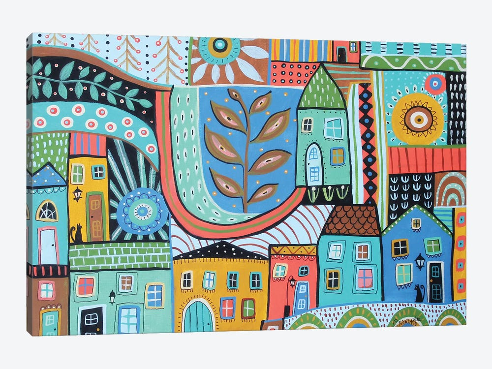 Townhouses by Karla Gerard 1-piece Canvas Artwork
