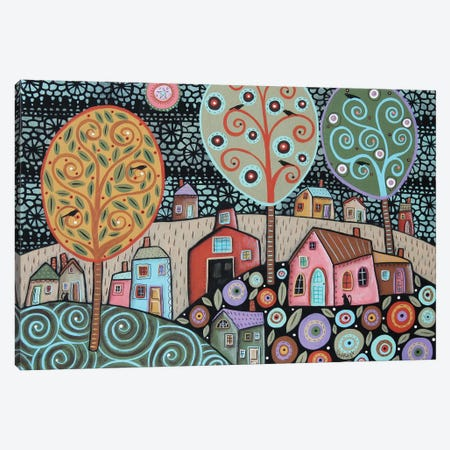 Two Cats Village I Canvas Print #KAG356} by Karla Gerard Canvas Art