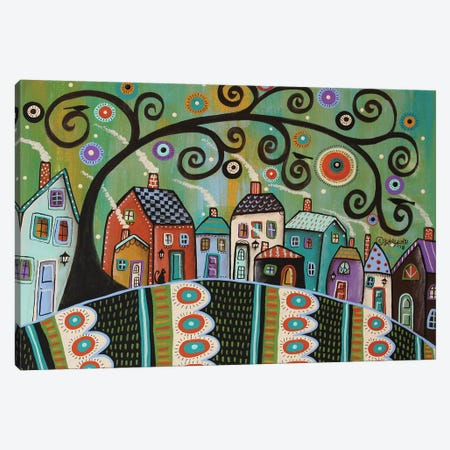 Village Blooms Canvas Print #KAG358} by Karla Gerard Canvas Print