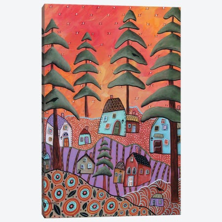 Warm Horizon I Canvas Print #KAG366} by Karla Gerard Art Print