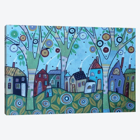 Whimsy Village Canvas Print #KAG374} by Karla Gerard Canvas Art