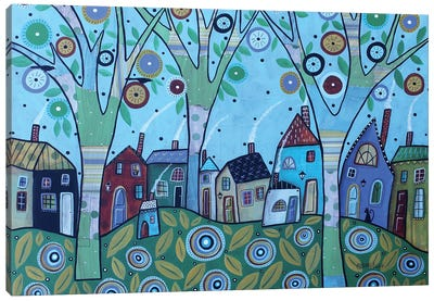 Whimsy Village Canvas Art Print