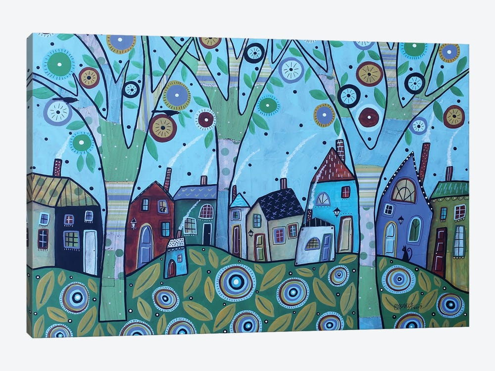 Whimsy Village by Karla Gerard 1-piece Canvas Print