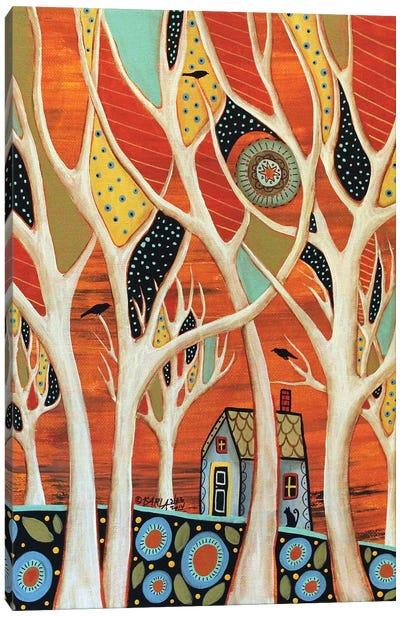White Trees I Canvas Art Print