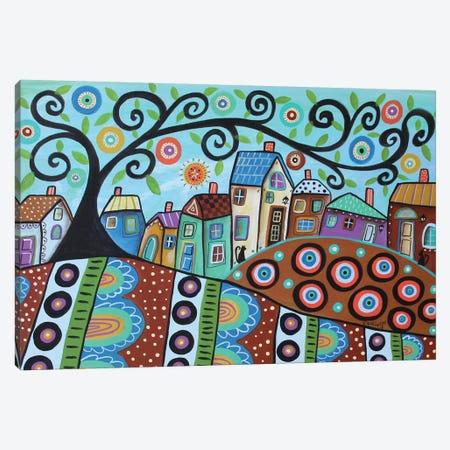 Blooming Village Dusk Canvas Print #KAG37} by Karla Gerard Canvas Artwork