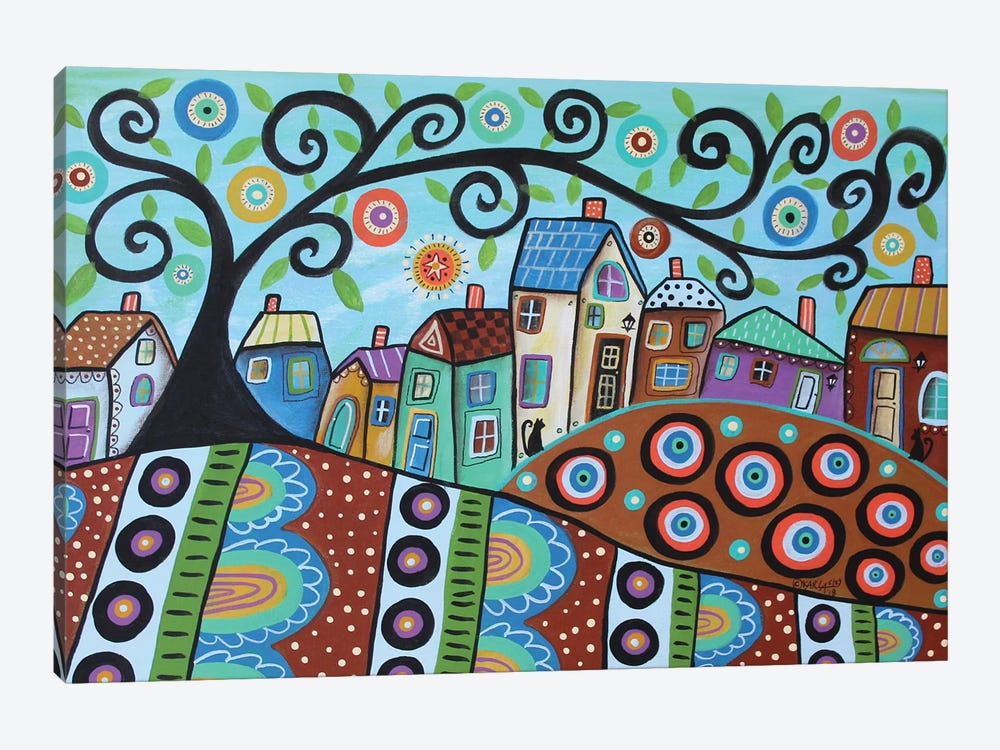 Blooming Village Dusk by Karla Gerard 1-piece Art Print