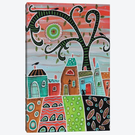 White Trim Canvas Print #KAG380} by Karla Gerard Canvas Artwork