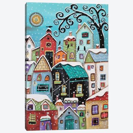 Winter City Canvas Print #KAG382} by Karla Gerard Canvas Art