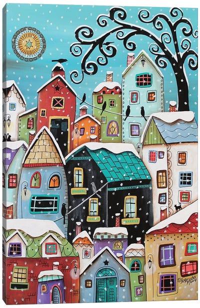 Winter City Canvas Art Print