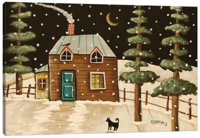 Winter Evergreens Canvas Art Print