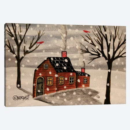 Winter Flurries Canvas Print #KAG387} by Karla Gerard Art Print