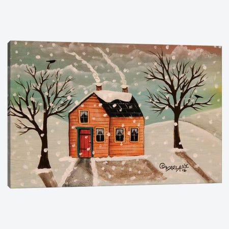 Winter House Canvas Print #KAG388} by Karla Gerard Canvas Art