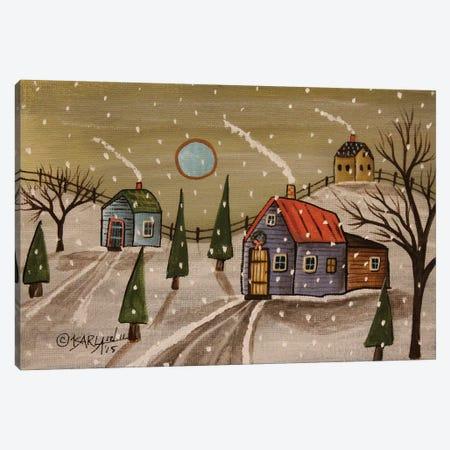 Wreath House Canvas Print #KAG393} by Karla Gerard Art Print