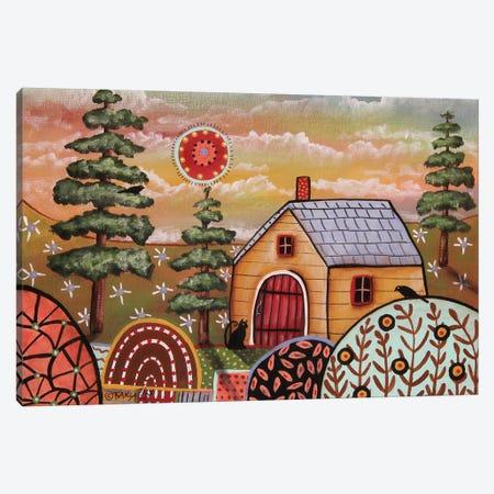 Yellow Cabin I Canvas Print #KAG394} by Karla Gerard Canvas Artwork