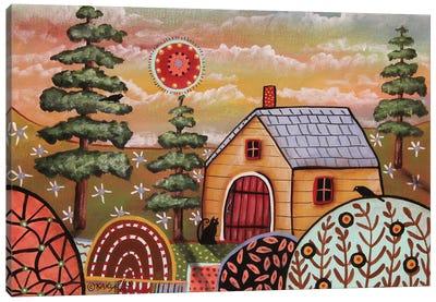 Yellow Cabin I Canvas Art Print