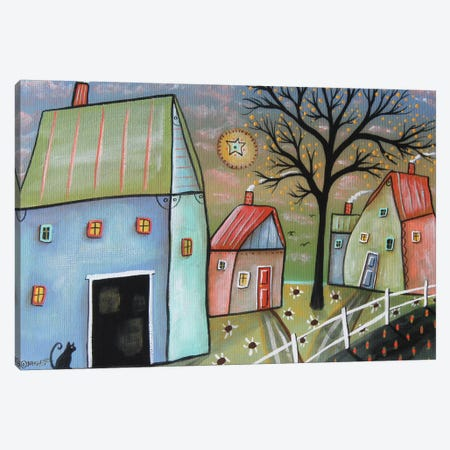 Blue Barn I Canvas Print #KAG40} by Karla Gerard Canvas Wall Art
