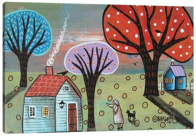 Blue Cabin Canvas Art Print