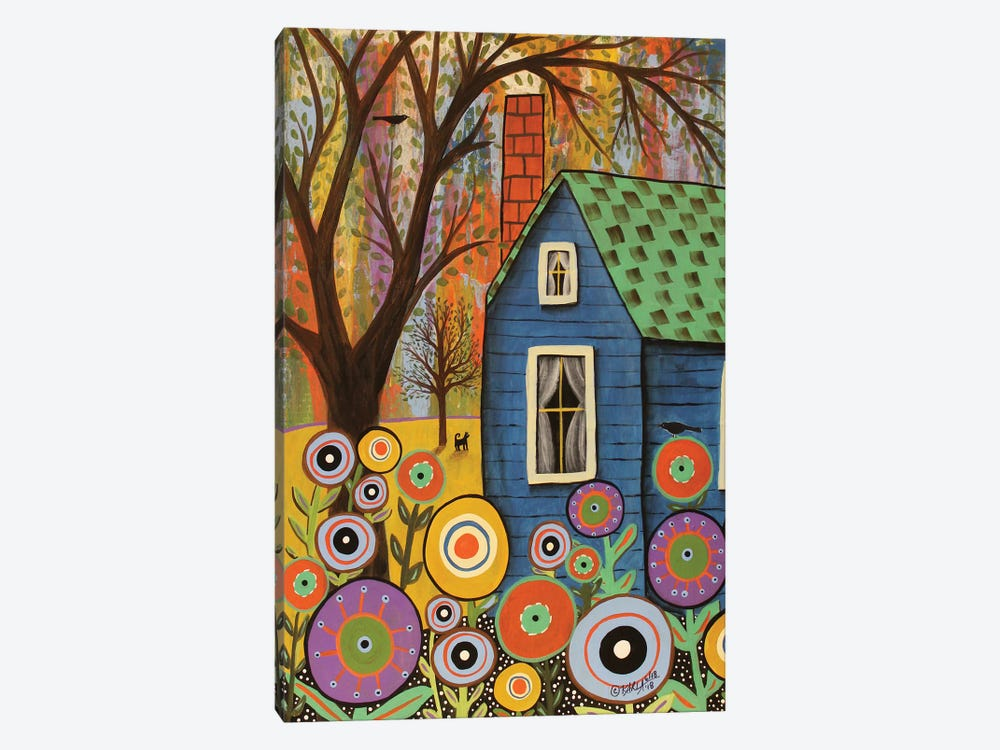 Blue Cottage by Karla Gerard 1-piece Canvas Wall Art