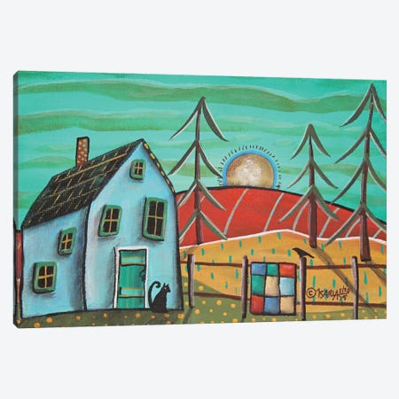 Blue House I Canvas Print #KAG45} by Karla Gerard Canvas Art Print