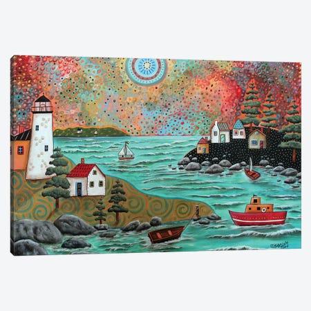 Blue Sea Canvas Print #KAG46} by Karla Gerard Canvas Print