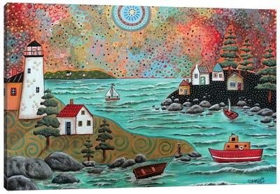Blue Sea Canvas Art Print