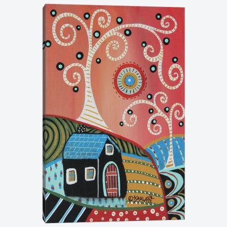 2 Swirl Trees Canvas Print #KAG5} by Karla Gerard Art Print
